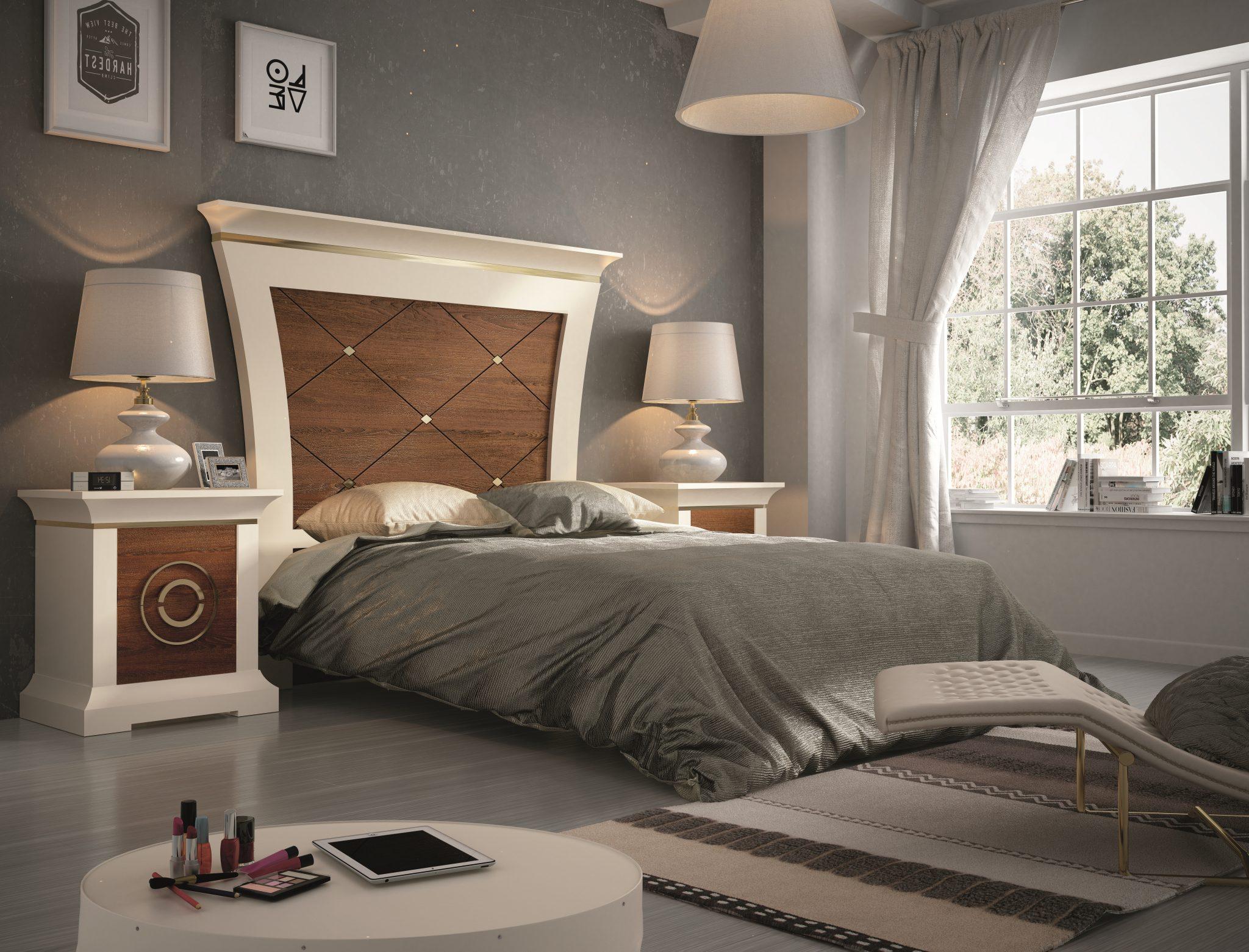 GRP-SPJ Dormitorio PREMIUM - Alegría, Roble Caramelo y Oro (Página 34 - Variante 04) ALTA