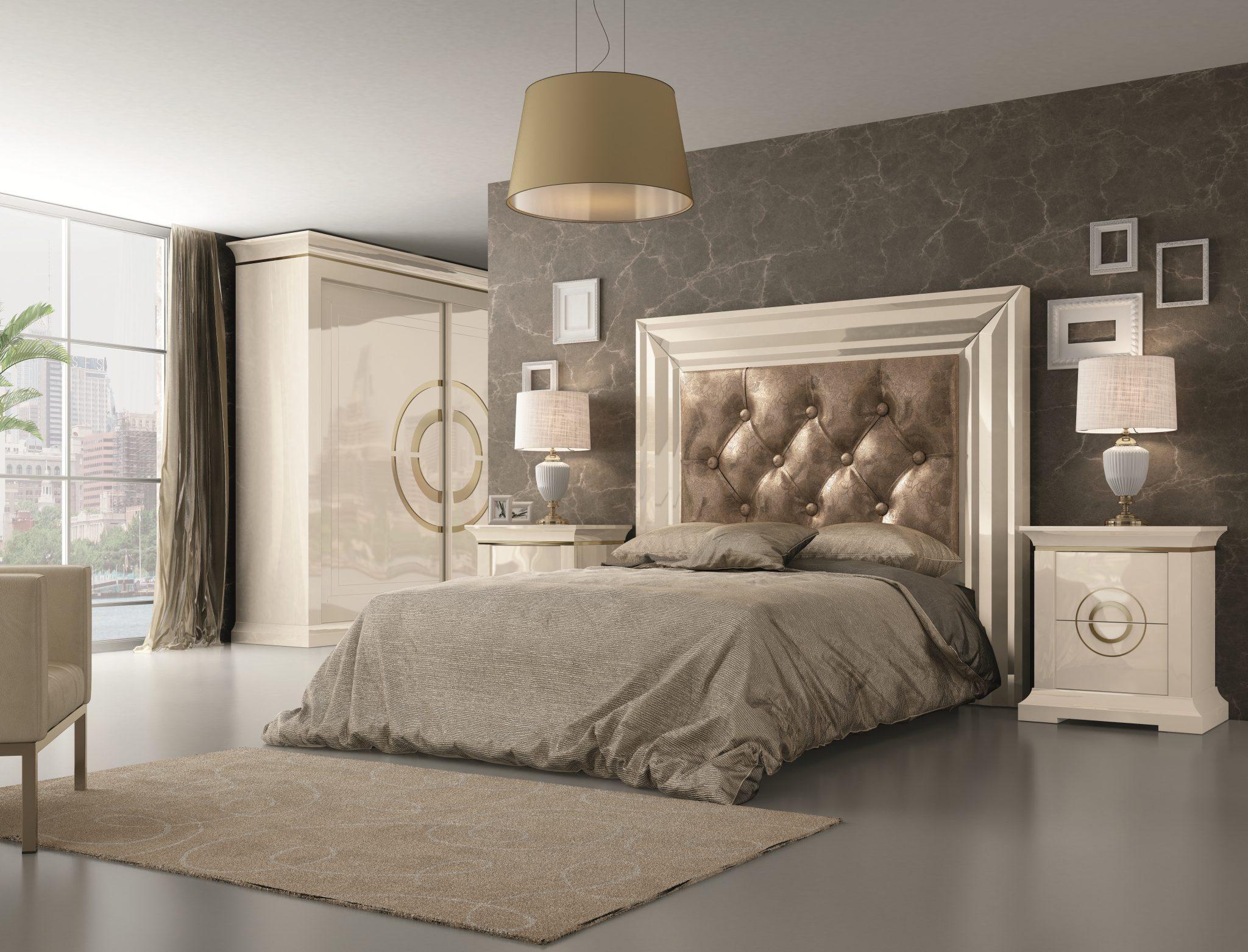 GRP-SPJ Dormitorio PREMIUM - Lacado Alegría, Oro y Fantasía Círculos Oro (Página 38) Variante 02 ALTA