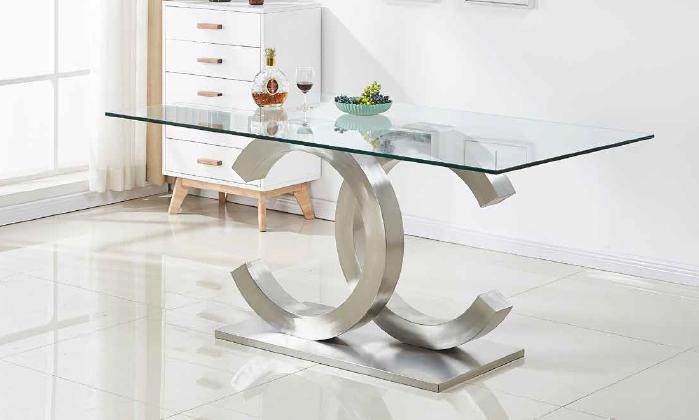 mesa 401 de 145,160 y 180x90cm acero inox anvk