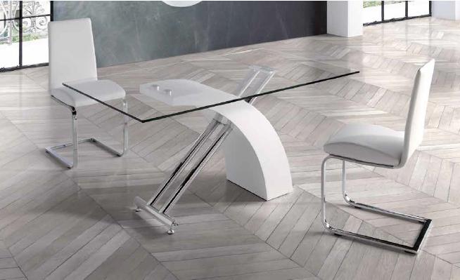 mesa 407 de 160x90cm lacado blanco anvk