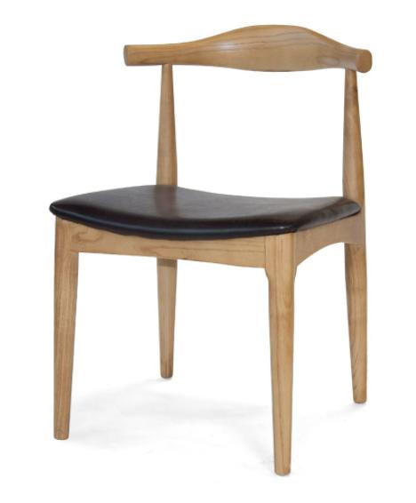 silla calp madera pu marrón csth