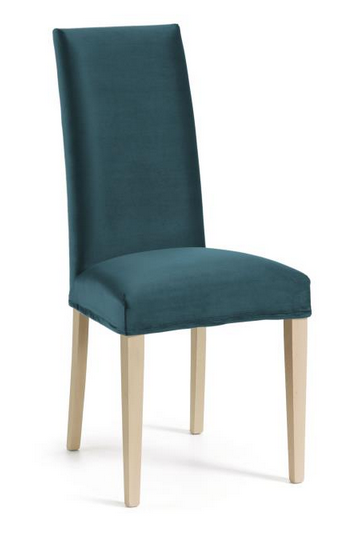 silla freia madera natural-terciopelo azul jg