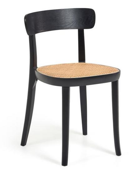 silla madera haya negro-ratan jg
