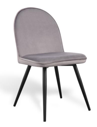 silla velvet terciopelo gris csth