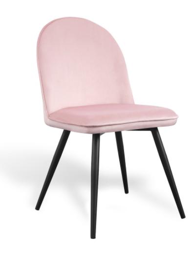 silla velvet terciopelo rosa csth
