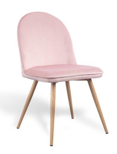 silla velvet terciopelo rosa palo csth